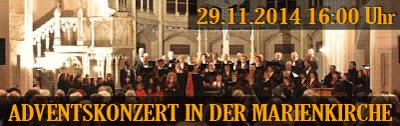 Adventskonzert 29.11.2014 16:00 Uhr