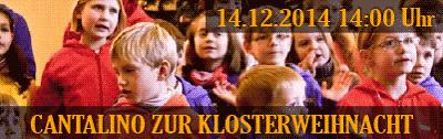 Cantalino zur Klosterweihnacht 14.12. 14:00 Uhr