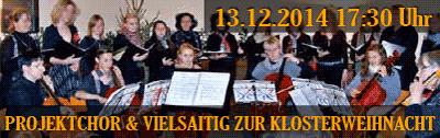 Projektchor & Vielsaitig 13.12.2014 17:30 Uhr